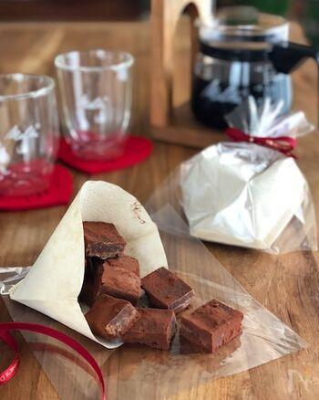 コーヒーをプラスすることで甘さを抑え、ほろ苦く仕上げた大人のファッジです。チョコの風味もしっかり残っており、すっきりとした後味を楽しめます。