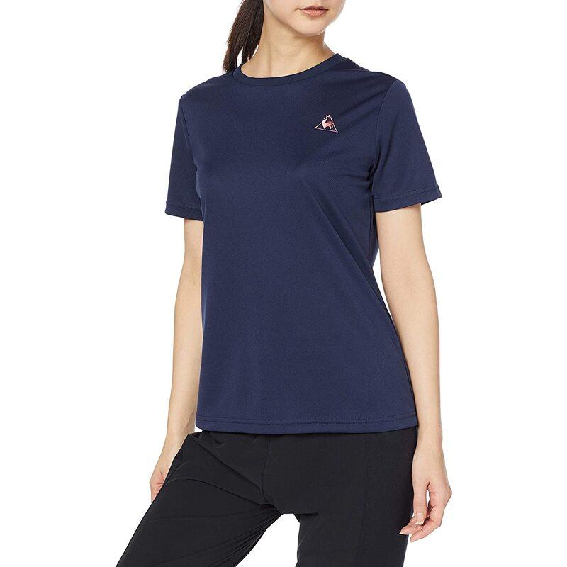 [ルコックスポルティフ] プラクティスシャツ 半袖シャツ レディース NVY 日本 M (日本サイズM相当)