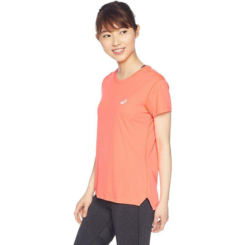 [アシックス] ランニングウエア ランニング半袖シャツ 2012A062 レディース フラッシュコーラル 日本 S (日本サイズS相当)
