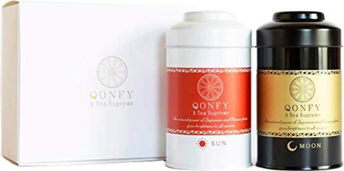 漢方茶QONFY SUN & MOON 2缶セット(10包×2缶)