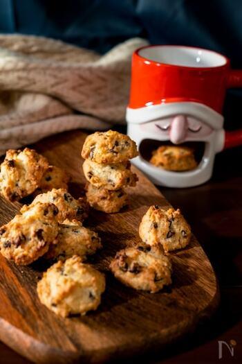 みんな大好きなチョコチップクッキーは、アーモンドフラワーを使って風味豊かに作ります*強力粉ならではのザクザク食感を楽しみましょう♪