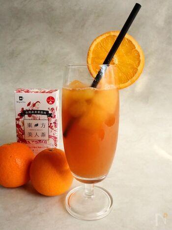 カルダモンパウダーはドリンクにプラスしてもgood。カルダモンによってオレンジの爽やかさがさらにアップします。いつものドリンクが違った表情に。
