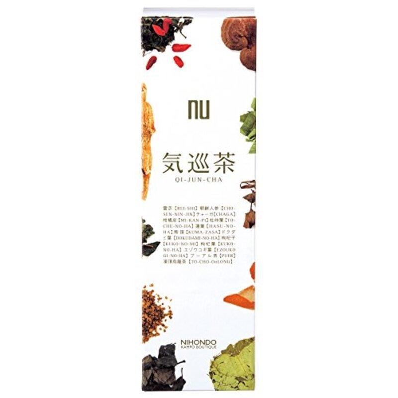 気巡茶 (5g×15包) ティーバッグ 烏龍茶ベース 霊芝 熊笹 健康茶 薬日本堂