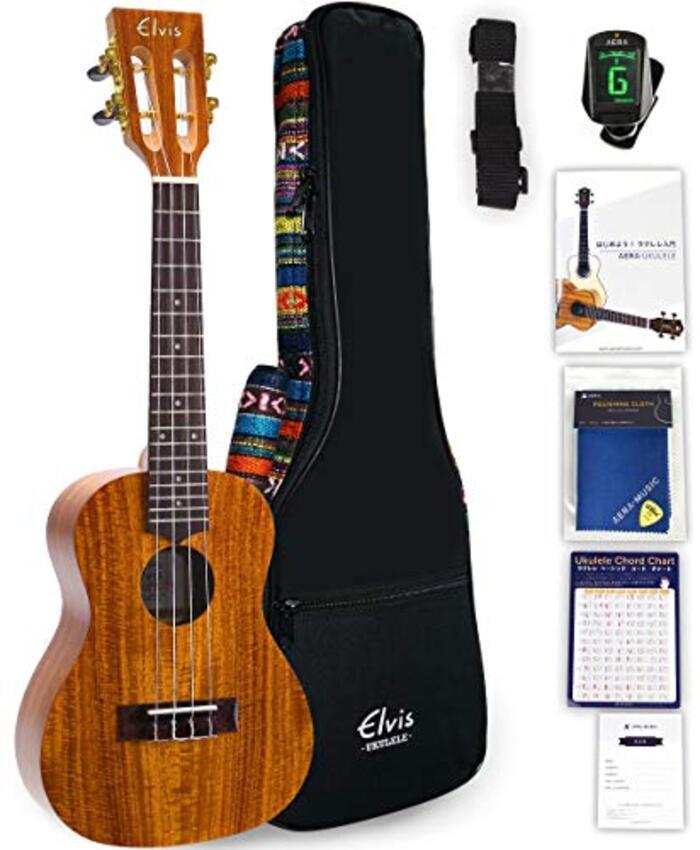 ELVIS ウクレレ コンサートサイズ ハワイアンコア材 K100C