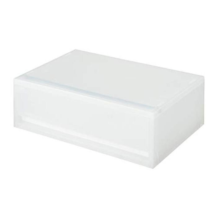無印良品 ポリプロピレンケース引出式・横ワイド・浅型 幅37×奥行26×高さ12cm 15253784 半透明