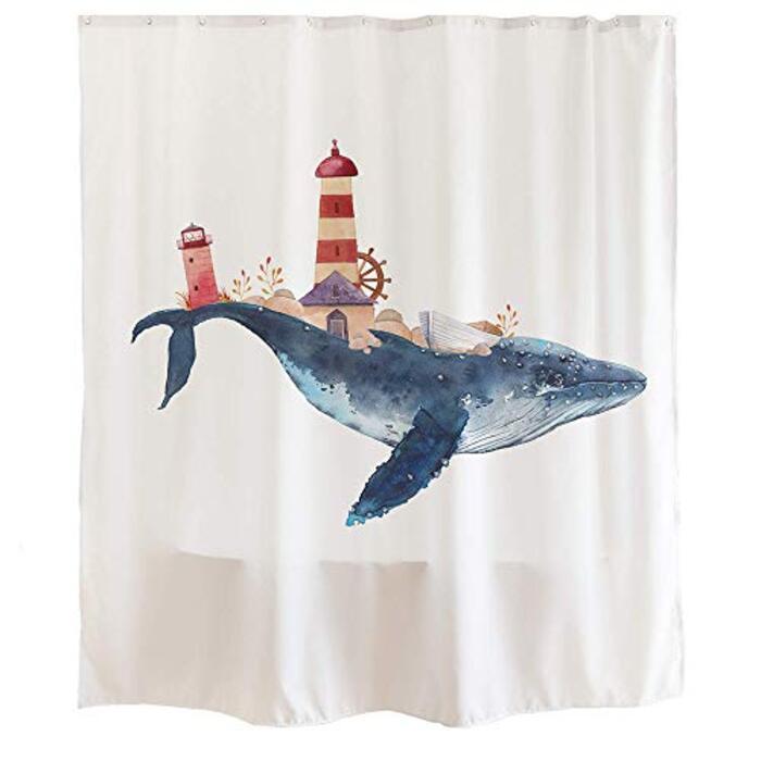 シャワーカーテン 鯨