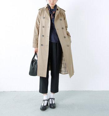 まずは、定番のAライントレンチコートをご紹介。イギリスの老舗ブランドである「GRENFELL(グレンフェル)」は、英国王室関係者も御用達。日本人の体型に合せてフィッティングされています。