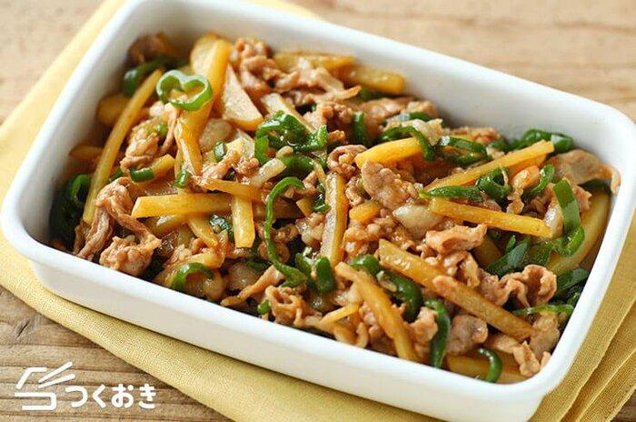 じゃがいもは中華の定番でも大活躍!オイスターソースで炒めた、ご飯がすすむおかずです。