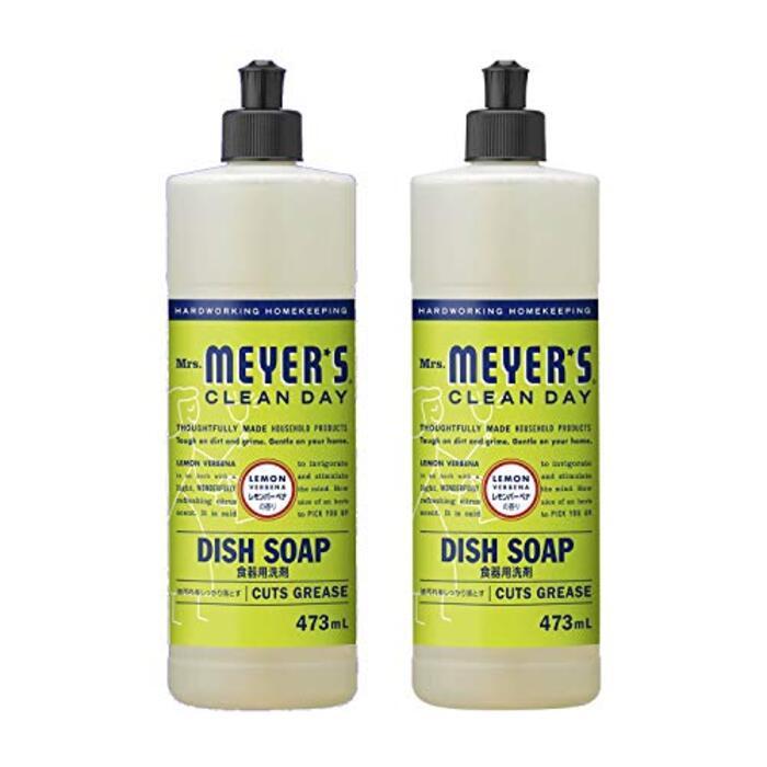 ミセスマイヤーズ クリーンデイ(Mrs.Meyers Clean Day) 食器用洗剤 レモンバーベナの香り 473mL×2個