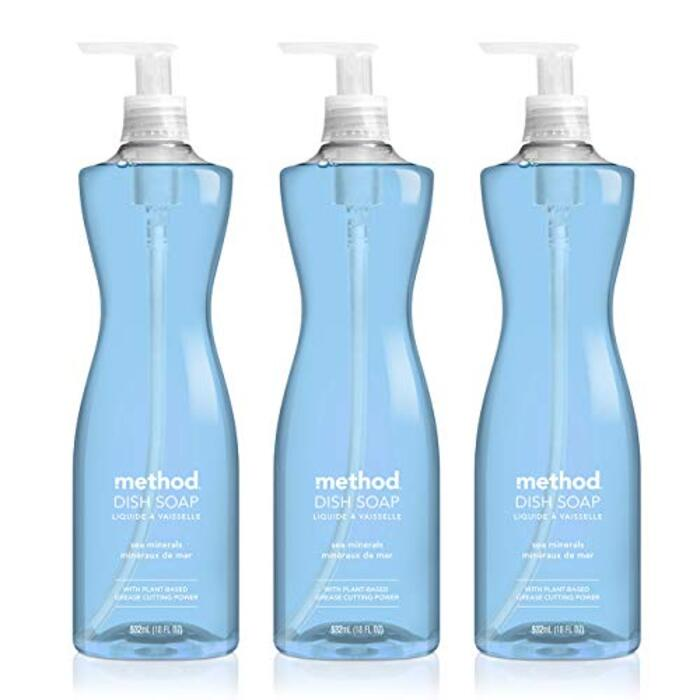 method(メソッド) 食器用洗剤 シーミネラルズの香り 本体 532ml×3個 ディッシュソープ ポンプタイプ