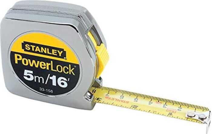 """Stanley33-158Powerlock Metric & Inch Tape Rule-3/4""""X16 PWRLCK TAPE RULE (並行輸入品)"""