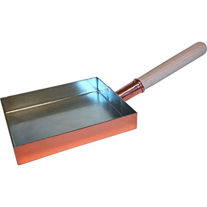 浅草 銅銀銅器店 純銅製 玉子焼鍋 大(15cm ×18cm)職人歴40年の星野さんが作る卵焼き器