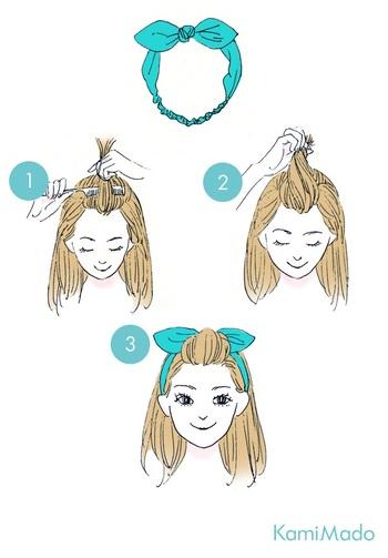 ワンタッチでセットが完了するヘアバンドですが、ペタッと潰れてしまうのが木になる場合は、前髪を少しアレンジしてみましょう。ポンパドールにしておでこを出すと清潔感のある印象にになりますよ。