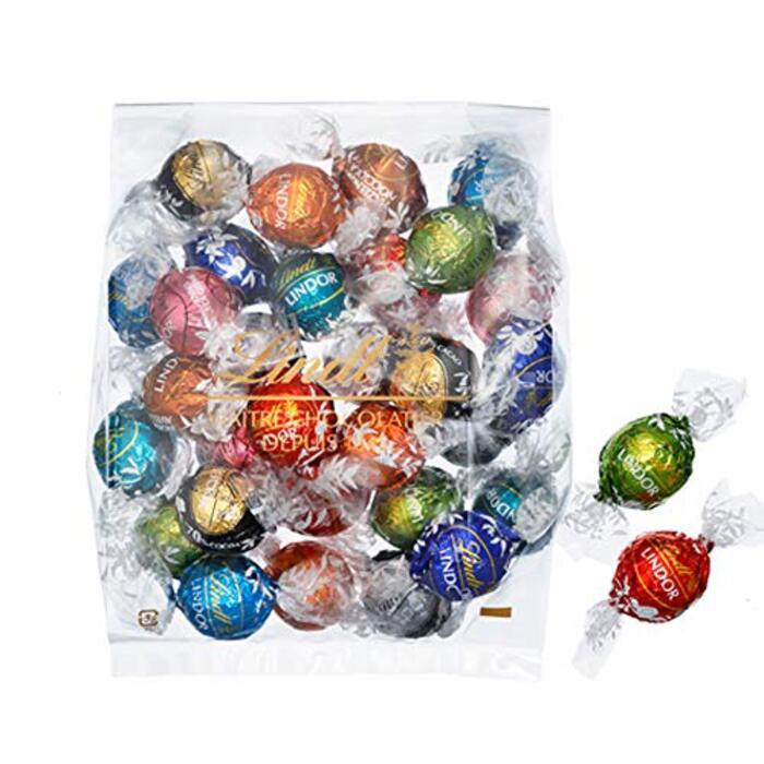 【公式】リンツ (Lindt) チョコレート ホワイトデー リンドール 10種類アソート 詰め合わせ [Bタイプ] 個包装 30個入り (ミニリーフレット付き)