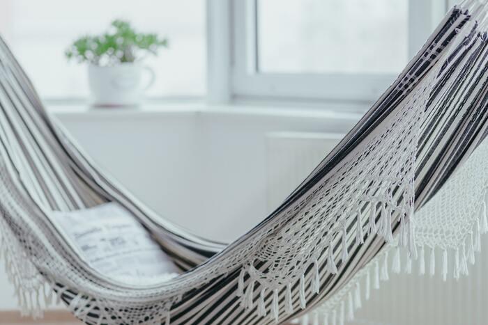 『ハンモック』でゆとりある暮らし。屋外も室内も!初心者におすすめ10選