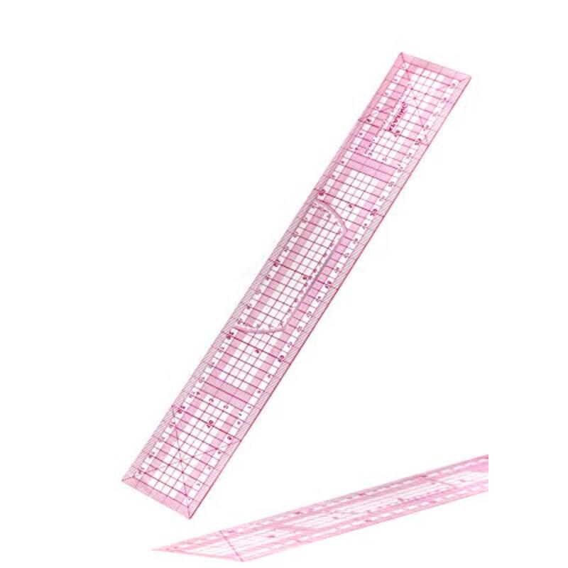方眼定規 30cm 柔軟性 耐久性 メモリ付き 洋裁 裁縫 手芸