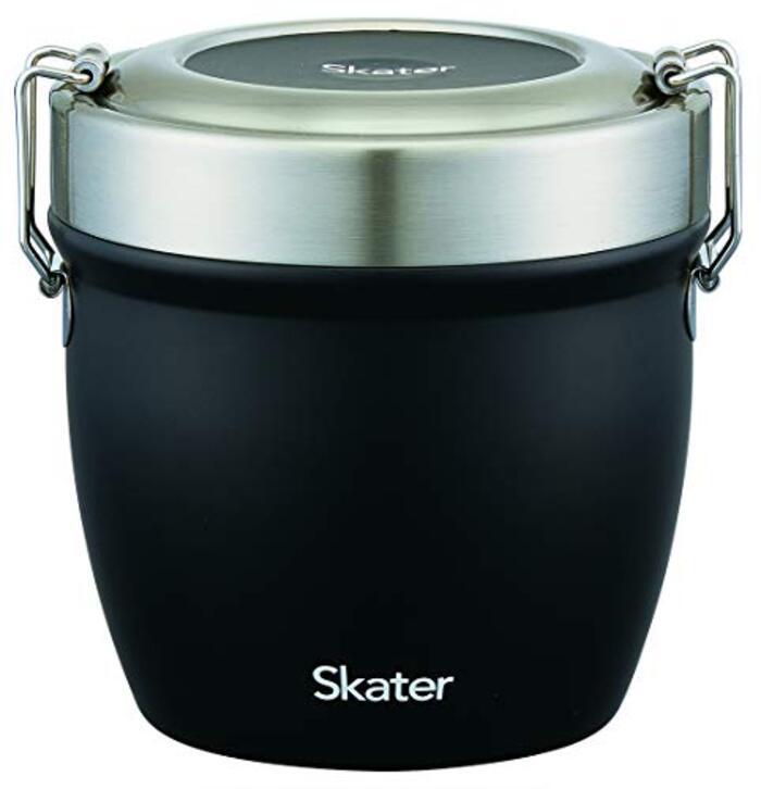 スケーター 保温弁当箱 丼型 ステンレス 弁当箱 550ml ブラック STLBD6