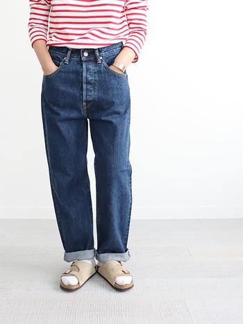 ずっと良き相棒でいてほしいから、きちんと押さえるべきところは、拘って選びたいジーンズ。中でもストレートシルエットのジーンズは、廃れることのない定番!だからこそ、程よいフィット感は譲れないポイントです。「HATSUKI(ハツキ)」のストレートデニムは、股上深めで太もも〜裾にかけて、ゆとりがありつつ、すっきり美しいシルエットが秀逸です。