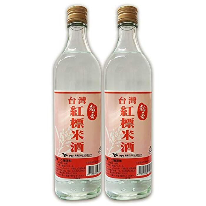 【稲香】 台湾紅標米酒(瓶)600ml / 本台湾⽶酒 19.5度 2本セット