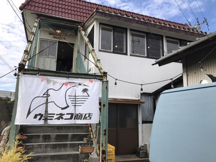 福島県いわき市小名浜にある「ウミネコ商店」。パンや焼き菓子、プリンや豊富なドリンクメニューが人気のお洒落なカフェです。看板ねこのピーちゃんがお出迎えしてくれることもあり、ピーちゃんに会いに出かけるコアなファンも多いそう。