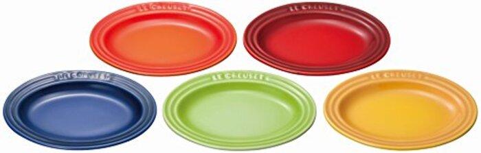 ル・クルーゼ(Le Creuset) 皿 ミニ・オーバル・プレート 5枚 入り