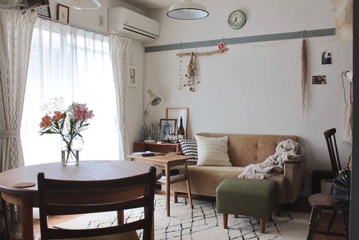 好きな雑貨やドライフラワー、ライトで装飾したりポスターを飾ったり。 長押はお部屋のアクセントになり、ディスプレイスペースにもぴったりです。