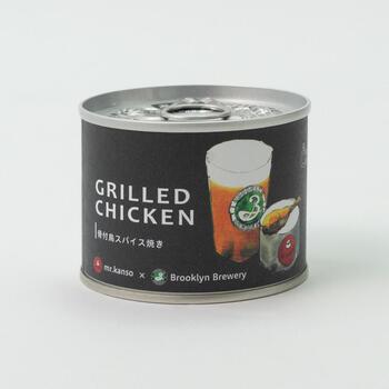 特製スパイス調味料で味付けして、じっくり焼き上げた骨付鳥を缶詰に。柔らかい食感で、骨からの身のはがれがよく、食べやすくなっています。黒胡椒のスパイシーさと、ジューシーな肉がおいしい缶詰。クラフトビールとの相性も抜群です。