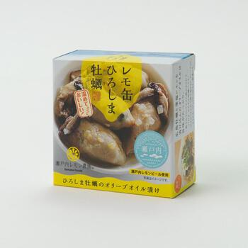 広島名産の「牡蠣」と「藻塩レモン」をオリーブオイルに漬け込み、缶詰にしました。茹でたパスタにそのまま絡めたり、クリームを加えてレモンクリームパスタにしてもいいですね。いろいろなアレンジが楽しめる牡蠣のレモ缶です。