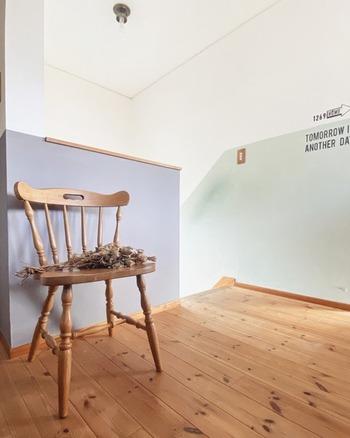一部分や一面だけでも壁の色が変わることで空間がぐんとおしゃれに変わりますよね。 全面塗るよりもハードルが低くく、挑戦しやすいのではないでしょうか。