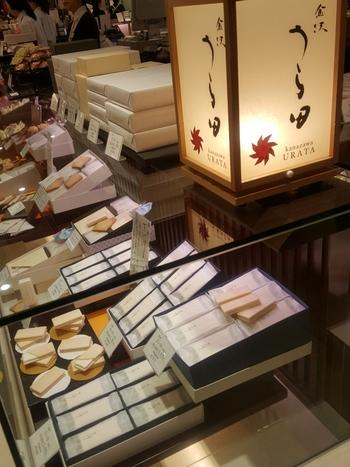 あんとの中の区画「38」売り場にある、和菓子のお店「金沢 うら田(かなざわ うらた)」。