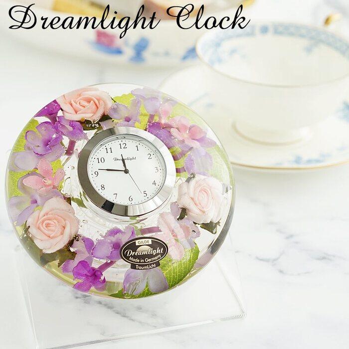 ドリームライト ハーバリウム 置時計