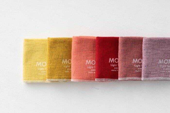 厳選された素材で国内生産にこだわった、日本を代表するブランドの「今治タオル コンテックス」。フワッと柔らかな手触りと優れた吸収性ではさることながら、そのカラーバリエーションの豊富さも人気の秘密です。全17色から、ぜひ好きな色を選んでみてくださいね。