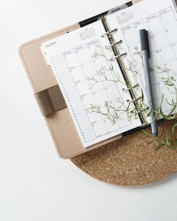 サインフェルドさんは一年カレンダーを用意したそうですが、自分がよく見るカレンダーであれば何でもOKですよ。できればパッと目に入ってやる気が刺激されるものがいいので、壁掛けカレンダーがおすすめです。もちろん、手帳やスマホなどのデジタルツールでもOKです。