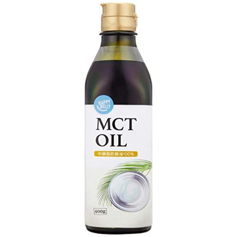 [Amazonブランド]Happy Belly MCTオイル 400g (中鎖脂肪酸油100%,「液ダレしにくい」キャップ採用)