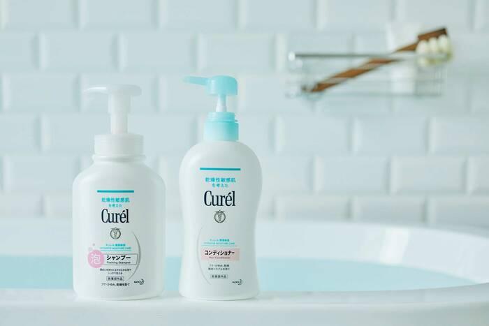 【医薬部外品】フケ・かゆみを防ぐ(消炎剤配合) 販売名(左)『Cure'l泡シャンプー』(右)『Cure'lヘアコンディショナーB』