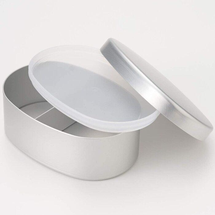 無印良品 アルミ弁当箱・大 約450ml/約10.5×15×6cm 15254620