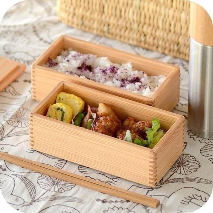 松野屋 [宮崎杉]二段弁当箱
