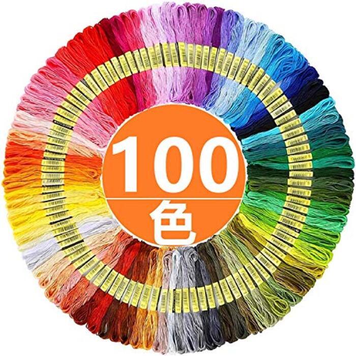 [ヤクニタツ] 100色x100束 刺繍糸セット