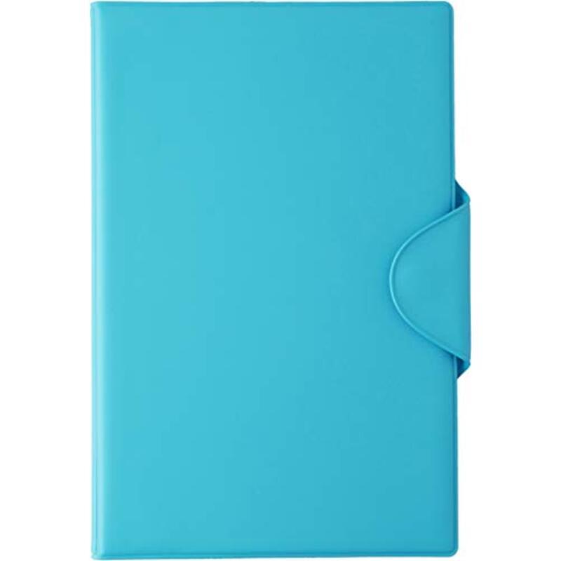 スリップオン 日本製 お薬手帳 母子手帳(Sサイズ・A6)ケース SPM PVC ライトブルー SPM-1802