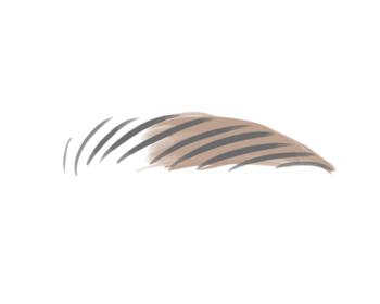眉山から少しずつ眉尻までラインを描いていきます。小鼻から目尻を結んだ延長線上に眉尻が来るようにしてくださいね。