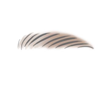 最後にブラッシングをして毛並みをそろえ、濃くなった部分をぼかします。太さや長さなどの眉の周りの微調整は綿棒を使うとよいですよ。