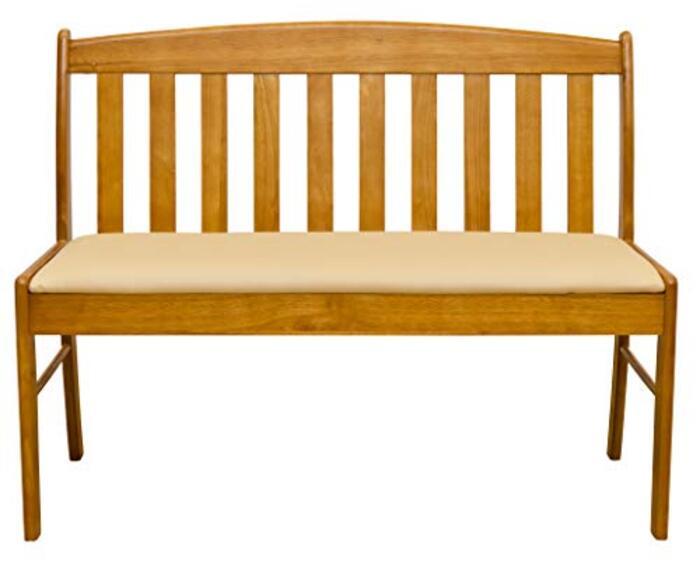 デザイン家具 コローナ ダイニングベンチチェア 【背もたれあり 幅102cm】 張地:合成皮革 ( 合皮 ) ライトブラウン