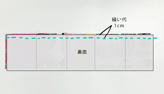 小さなピースを縫い合わせたときと同じように、中表にして縫い合わせます。