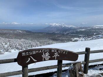 岩手県内陸北部にある高原台地の八幡平。その八幡平を超える形で岩手県と秋田県を結ぶ道路が、「八幡平アスピーテライン」です。全長が27kmほどの爽快なドライブロードで、東北の雪の壁スポットとして広く知られています。普段は、豊かな深い緑の木々と、遠くに岩木山が眺められます。