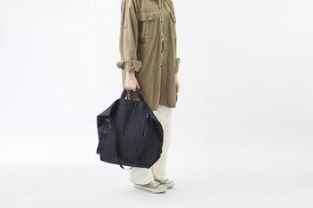こんなにも高機能なのに軽量!持ち手付きで2通りの持ち方が楽しめる、どんなコーデにも合わせやすいシンプルなショルダーバッグです。
