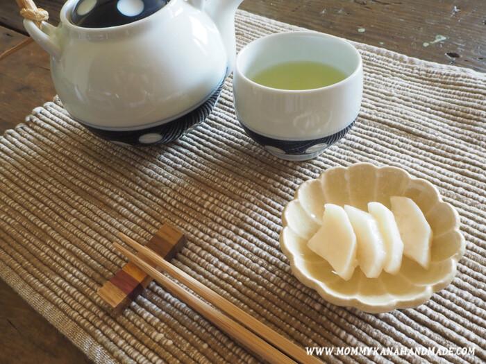 お茶請けにぴったりのべったら漬けも、米麹があれば手作りできます!ゆずや唐辛子を入れて、お好みの味に仕上げてみましょう。