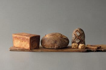牛乳と発酵バターを贅沢に使用した角食やライ麦香るンパーニュなどの嬉しいパンセット。自家製小麦酵母を使用した優しい味わい楽しんで*