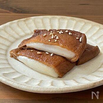 レンジで出来るお手軽レシピ。余ったお餅の活用法としてもおすすめです。