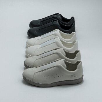 厨房や病院など専門分野の現場に寄り添った実用的な靴作りを続ける「MOONSTAR(ムーンスター)」。人気の810s(エイトテンス)シリーズのKITCHE(キッチェ)は、その名の通り、キッチンシューズをデイリーユースにした一足です。