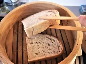 スイーツづくりにも使えます。パウンドケーキ風の蒸しパンや、プリンも絶品。冷凍パンの解凍にもおすすめです。中華せいろで2~3分温めれば、ふわふわでもちもちの食感になりますよ。